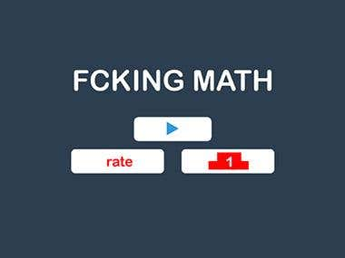 Math game writing by Javascript