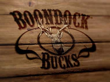 BOONDOCK  BUCKS LOGO DESIGN
