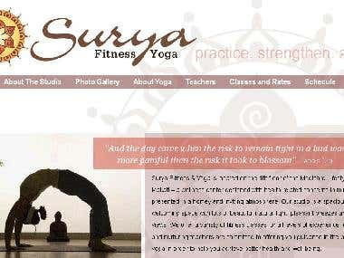 Surya Fitness Yoga Website