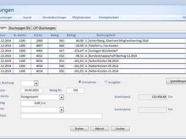 Accounting dialog