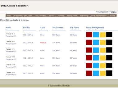 PHP based datacenter simulator