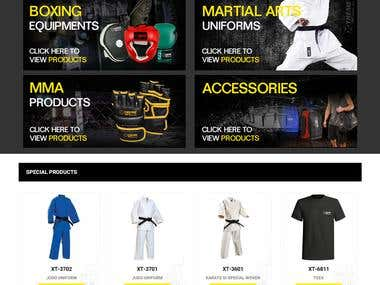 Martial Arts Products Website