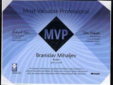 Microsoft Access MVP 2009