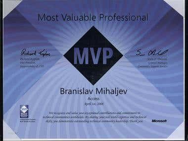 Microsoft Access MVP 2008