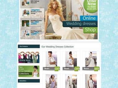 E-Commerce Website for Brides