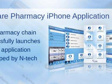 Rx Care Pharmacy iPhone Application