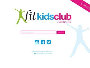FitKidsClub landing page