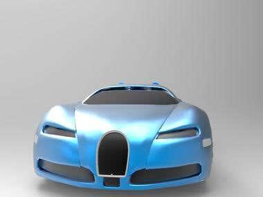 Low Poly Bugatti Veyron