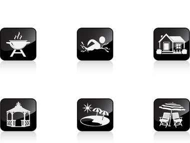 JC Landscaping icons set