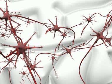 Neuron network 3D animation