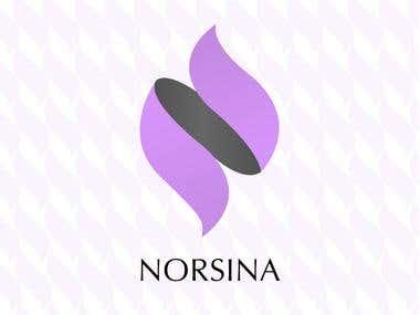 norsina cosmetics logo design