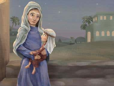 Mother and Daughter in Bethlehem