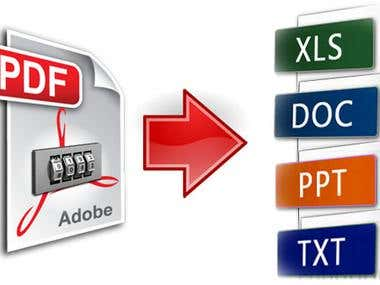 PDF conversion with accurate formatting.