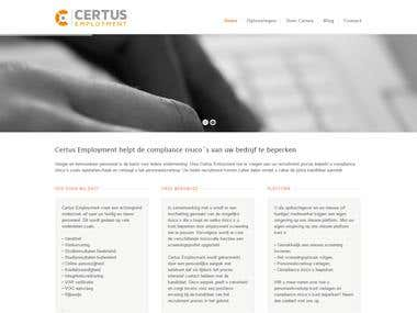 Certus Employment website overhaul