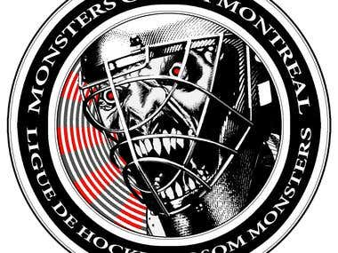 Monsters Ball Hockey League Logo & Branding