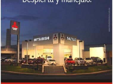 Poster design for local Mitsubishi Dealer