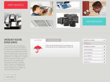 Advanced AC Repair Website - WordPress [Responsive]