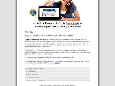 ezPay Health Care Provider - Responsive Website