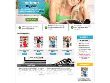 Website Mockup / Interface Design