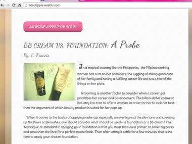 A Beauty/Make-up Blogsite
