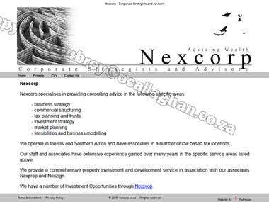 Nexcorp Corporate Strategists (web presence)