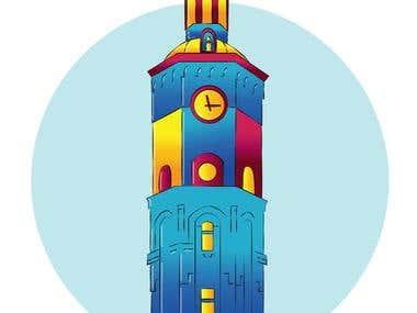 Tower Cartoon Style