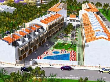 Cape Vert Urbanization volumetric study