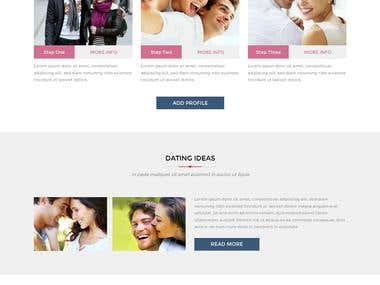 Make a Responsive Design Using Bootstrap For Dating Website