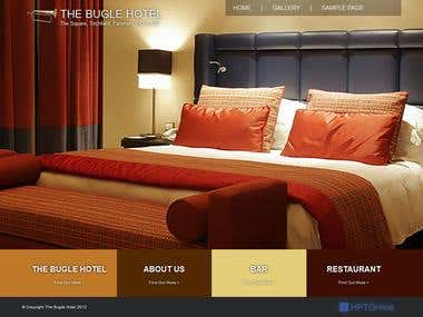 Wordpress website for The Bugle Hotel