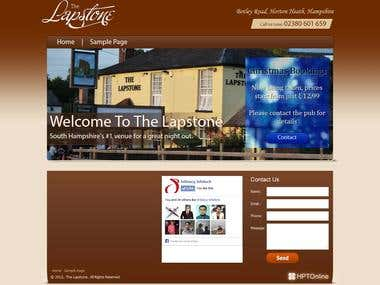 Wordpress website for The Lapstone