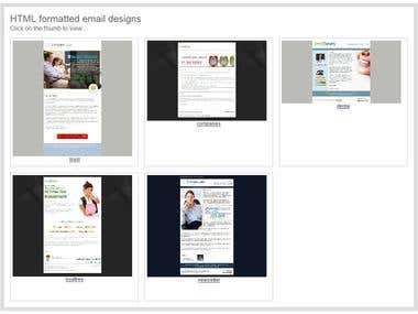 HTML formatted email templates