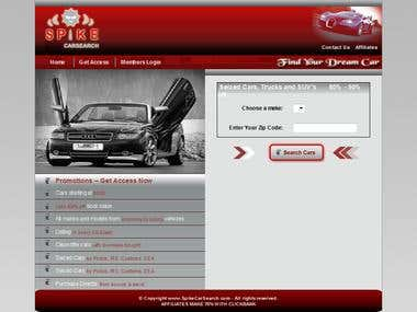 Spike Car Search Website