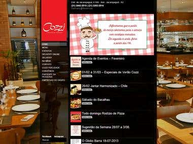 Wordpress restaurant Website