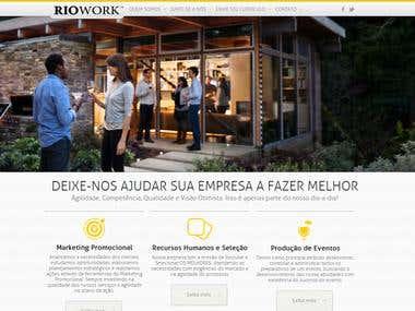 Riowork Wordpress Website