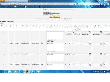 Amazon Variation Listing