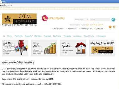 Online diamond jewellery shop