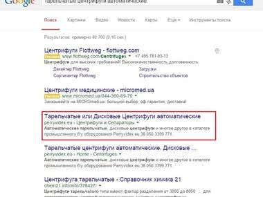 За месяц в TOP1 Google