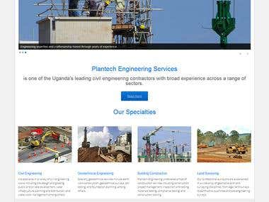 Plantech website development