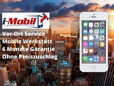 Eine iPhone Reparatur Webseite