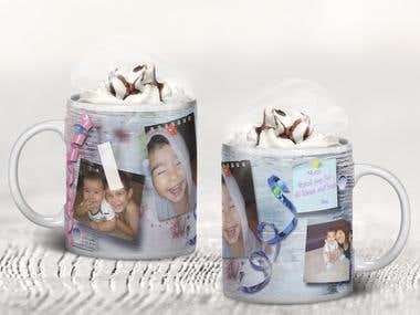 Design for mug print