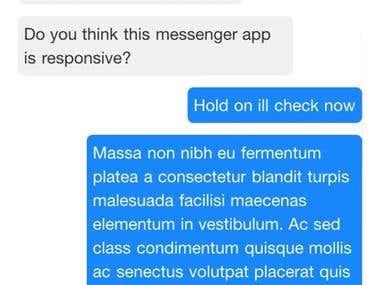 Online messenger web