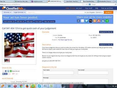 classified Advertising in USA, UK & CANADA