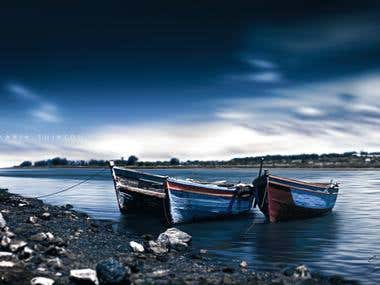 "Photo Editing \""Bleu river\"""