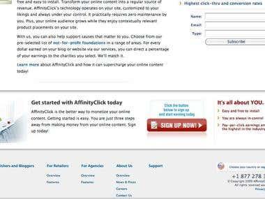 Affinity Click Website