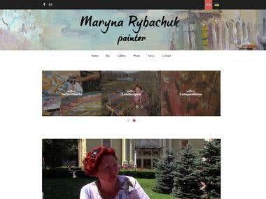 Painter portfolio site