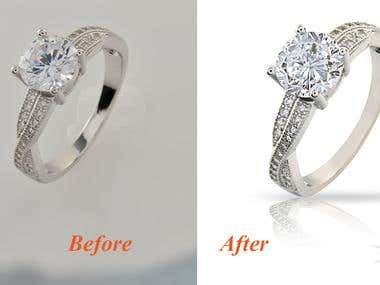 Retouch , clean white backgroun