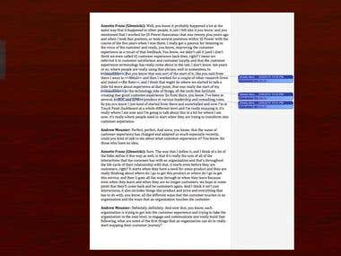 Transcription 1 - (A business oriented conversation video)