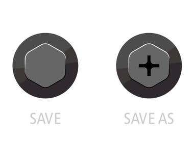 Save and Save-As icon