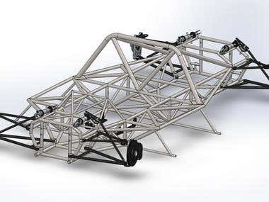Custom race car chassis and suspension design