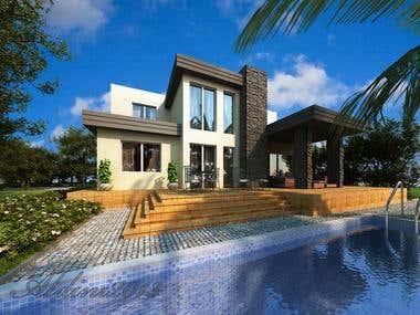 modern exterior renders